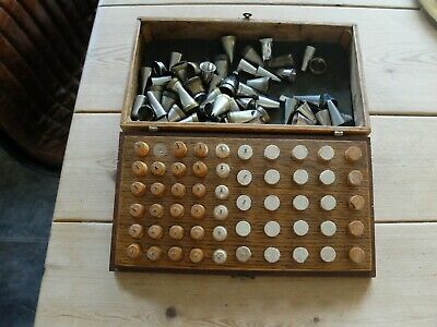 60 icing nozzles in wooden box