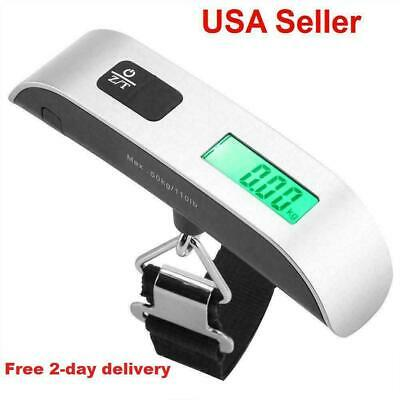 Portable Handheld Electronic Hanging Digital Luggage Travel Weight Scale 110Lb