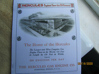 IN 1915 Hercules Gas Engine New Metal Sign Evansville LARGE SIZE 12 x 16