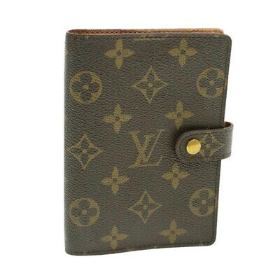 LOUIS VUITTON Monogram Agenda PM Day Planner Cover R20005 LV Auth yk253