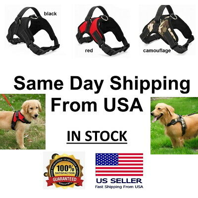 No Pull Dog Pet Harness Adjustable Control Vest Dogs Reflective Medium M Large L