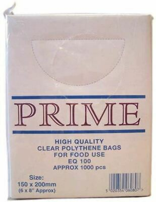 Smith & Bateson Clear Poly Weighout Bags (1000 Pack) 6x8 inch Sundries BN