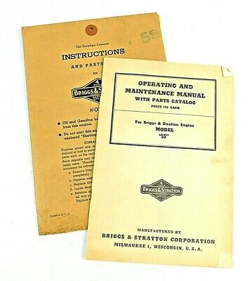 Vintage Briggs & Stratton Owner's Guide Instruction Manual in Original Envelope
