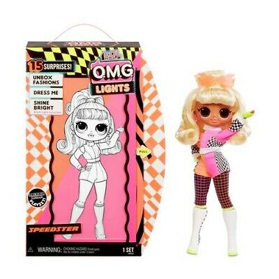 LOL Surprise O.M.G. Lights Speedster Fashion Doll with 15 Surprises