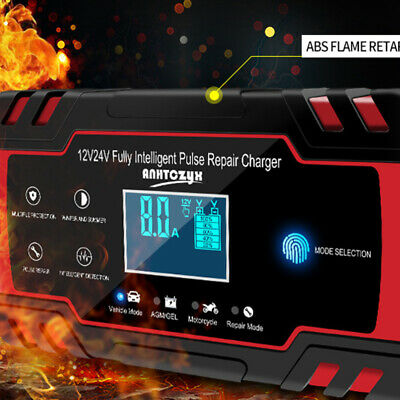 Intelligent Car Battery Charger Fully Automatic Pulse Repair Starter Truck 12V