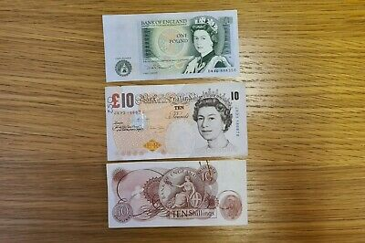 Old notes - 10£ / 1£ / 10 shilling