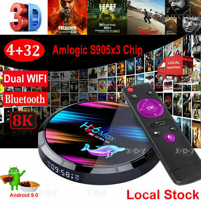 H96 MAX X3 4GB+32GB Android 9.0 TV Box Smart Amlogic S905X3 Dual WIFI BT hot new