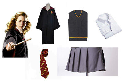Harry Potter Cosplay Hermione Granger Costume Gryffindor School Uniform Outfit@