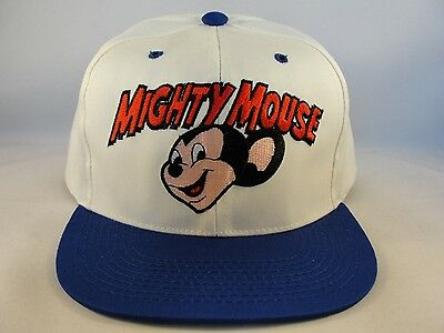 Kids Youth Size Small Soldiers Vintage Snapback Cap Hat Ivory Navy