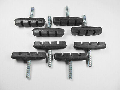 Pack Of 4 Pairs Cycle Cantilever Brake Blocks/Pads Post Fit 55M- 3 Groove Design
