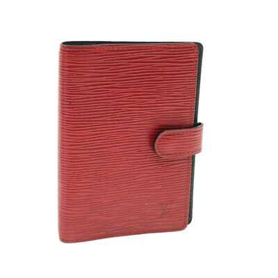 LOUIS VUITTON Epi Agenda PM Day Planner Cover Red R20057 LV Authth652