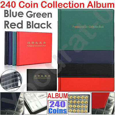 240 Album Coin Penny Money Storage Book Case Folder Collection Collecting Holder