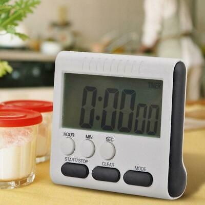 Magnetic LCD Digital Kitchen Cooking Large Timer Loud Alarm L0C0 W7Y6