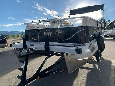Electric Pontoon Boat with Tesla Battery