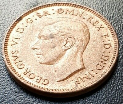 Beautiful George VI 1938 Farthing