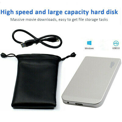 Portable 2.5'' USB 3.0 1TB External Hard Drive Disks HDD Fits For Laptop PC UK