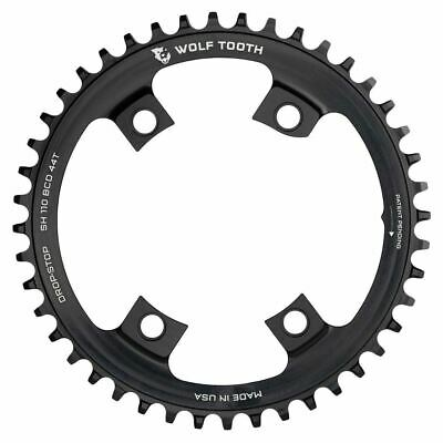 36T Blk Wolf Tooth Components 5x110BCD CX//Road Flat Top Chainring