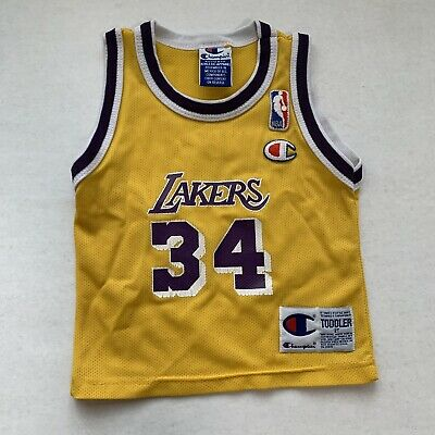 VTG SHAQ ONEAL Lakers Toddler Champion Jersey 2T NBA Los Angeles ...