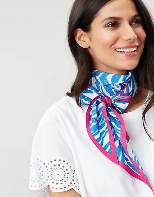 Joules Womens Tiewell Square Neckerchief HEART STRIPE in One Size