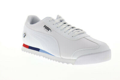 Puma BMW MMS Roma 30619504 Mens White Motorsport Inspired Sneakers Shoes