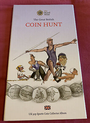 Great British Coin Hunt 1st Edition 50p Sport Album Complete With Medal Olympic