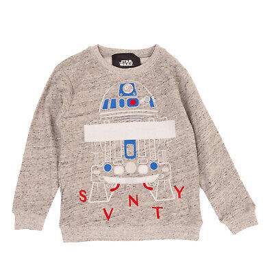 STAR WARS By SVNTY Sweatshirt Size 8Y Melange Embroidered Front Made in Portugal