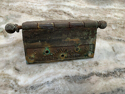 6 x 6 Corbin Harvard Cast Brass Butt Antique Door Hinge