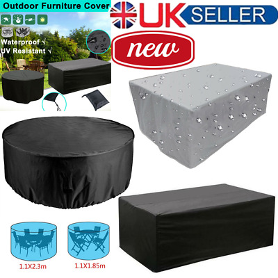 Heavy Duty Waterproof Patio/Garden Furniture Cover Outdoor Large Rattan Table UK