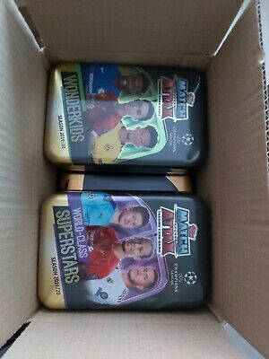 Match Attax - Bundle Job lot box of Empty Mega Mini Tins from various seasons
