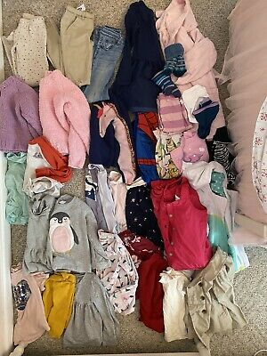 Girls 5-6T Fall Winter Play Clothes 40 Piece Lot