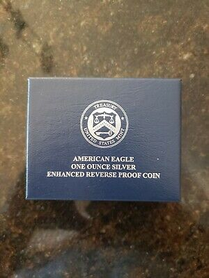 American Eagle 2019 One Ounce Silver Enhanced Reverse Proof Coin 19XE IN HAND