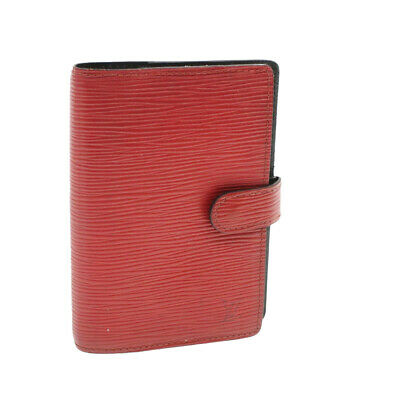 LOUIS VUITTON Epi Agenda PM Day Planner Cover Red R20057 LV Auth17335