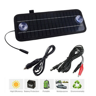 Car Boat Yacht Solar Panel Trickle Battery Charger Power Supply Outdoor 4.5W 12V