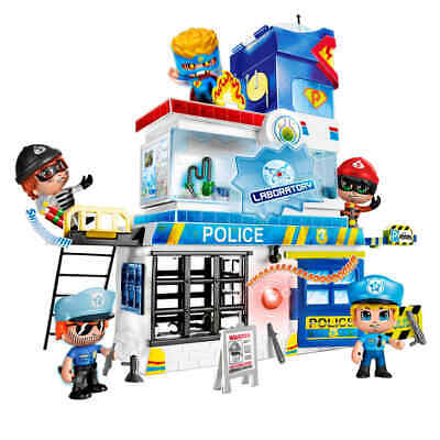 PinyPon Action Toy Police Station Kids Toddler Child Playing Police Playset