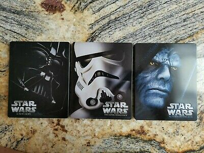 Star Wars The Original Trilogy Blu Ray Steel book Collection