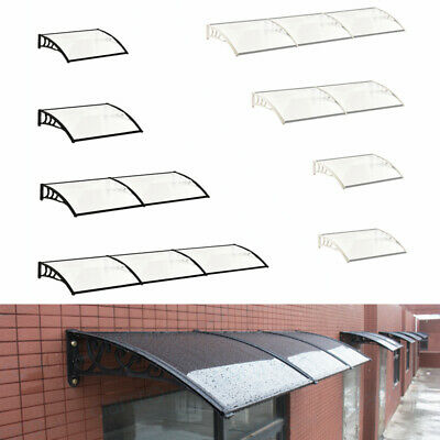 Overhead Roof Rain Cover Outdoor Shad Awning Door Canopy Window Front Back Porch