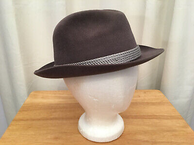 GOLDEN COACH by DOBBS Men's Brownish Gray Genuine Fur Felt Fedora Hat, Sz. 7 1/4