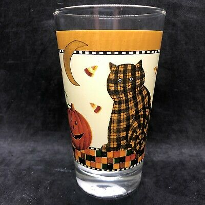 3 Oz Each 4-Piece Ginger Kitty Dinking Glasses Doiy Cat Stacking Glass Set
