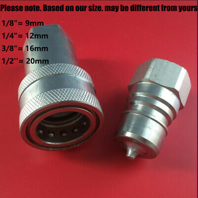 1//4 BSP FEMALE ISO A HYDRAULIC QUICK RELEASE COUPLING//CONNECTOR CARRIER FITTING