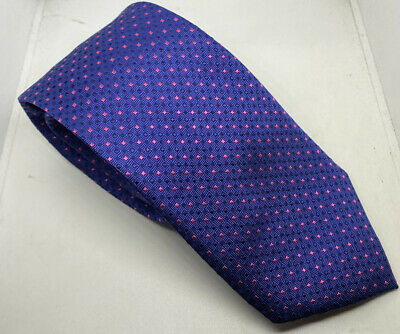Austin Reed Men S Tie Blue Red Squares 100 Silk 3 5 Width 61 Length 11 99 Picclick Uk