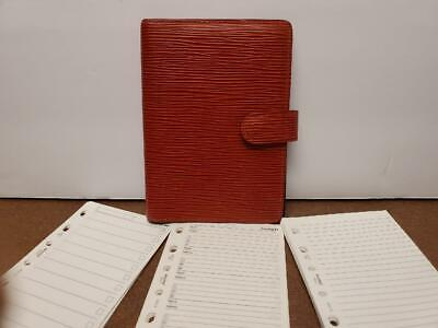 Louis Vuitton Agenda PM Day Planner Diary RED Epi Leather with Paper