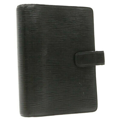 LOUIS VUITTON Epi Agenda MM Day Planner Cover Black R20042 LV Auth yk469