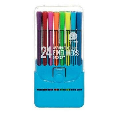 WHSmith Gel Pen Case Assorted Ink Colours Smooth Quick-Drying Pack Of 30