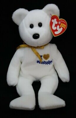 MINT with MINT TAG TY I LOVE MISSISSIPPI the BEAR  BEANIE BABY