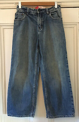 Gap Kids Boys Washed Blue Denim Loose-Fit Straight Leg Jeans 8-9 Years 128-134cm