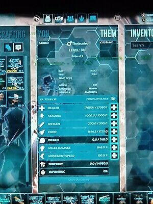 Ark Survival Evolved Breeding Pair Thylacoleo 17k H 848 M Pve Official Xbox One 6 99 Picclick Uk Going to be going a lot of breeding on crystal isles that i cant do on scorched. ark survival evolved breeding pair
