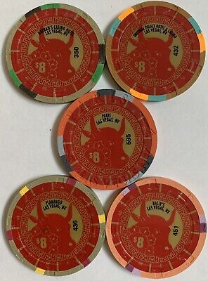 ballys las vegas chinese new year of the pig $25 casino chip unc