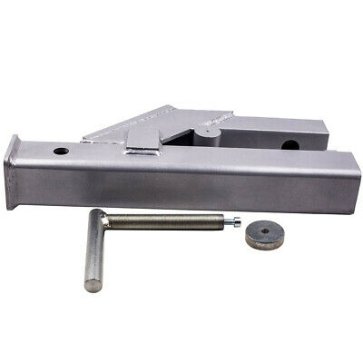"""Clamp On Trailer Hitch 2"""" Ball Mount Receiver for Deere Bobcat Tractor Bucket"""