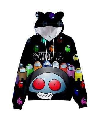 Boys Girls Hoodie Game Among Us 3d Cartoon Sweater Unisex Kids Fashion Coat Top