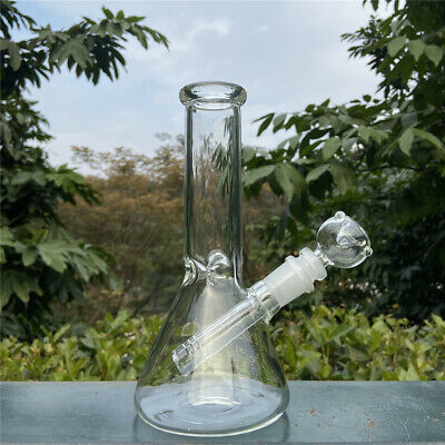 7.8 Inch Hookah Water Pipe Heavy Glass Bong Smoking Pipe Beaker & ICE catcher US